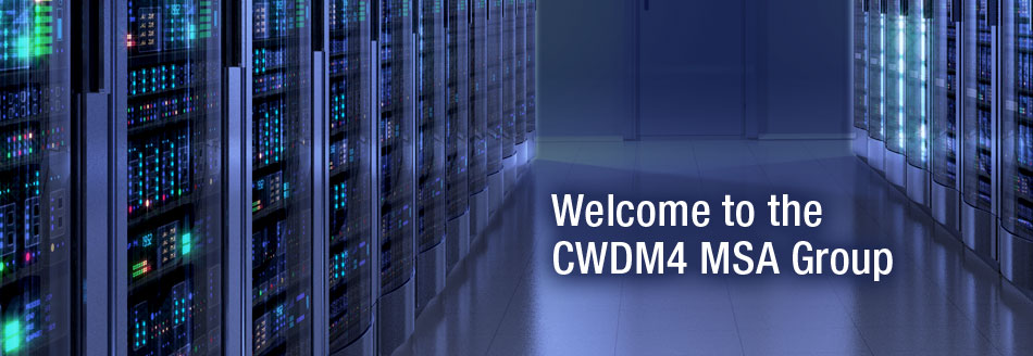 Welcome to the CWDM4 MSA Group